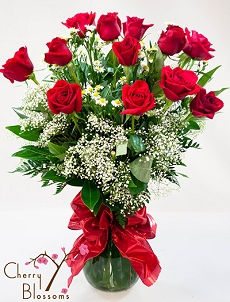 Long-Stem Red Roses <br>Other Colors Available